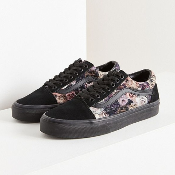 VANS FLORAL VELVET OLD SKOOL SNEAKERS SHOES 6